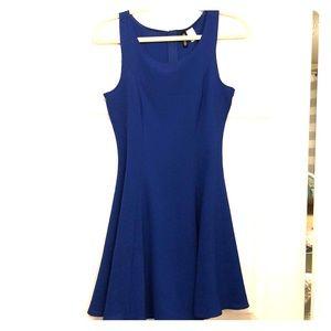 H&M ROYAL BLUE MINI SHIFT DRESS | Size 6 |